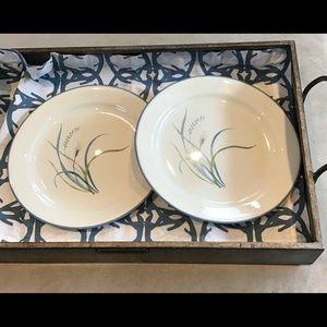 "Corelle Coastal Breeze 9"" Plates (two) EUC"